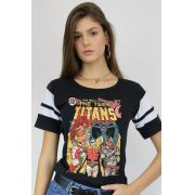 Camiseta Athletic Feminina Teen Titans HQ