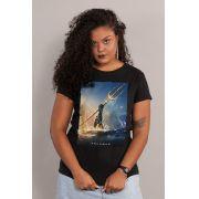 Camiseta Feminina Aquaman Golden Trident