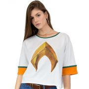Camiseta Feminina Aquaman Logo Movie