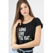 Camiseta Feminina Batman 80 Anos Long Live The Bat
