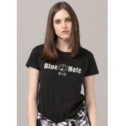Camiseta Feminina Blue Note Logo
