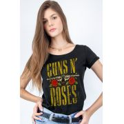 Camiseta Feminina Guns N' Roses Logo