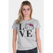 Camiseta Feminina Love Hello Kitty