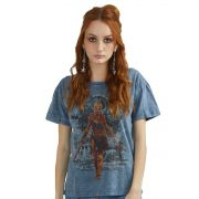 Camiseta Feminina Marmorizada Assassin's Creed Odyssey Kassandra Warrior