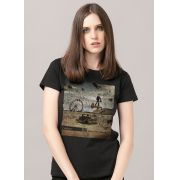 Camiseta Feminina Rotor What is the Distance? Capa