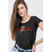Camiseta Feminina Shazam Logo Clássico
