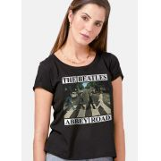 Camiseta Feminina The Beatles Abbey Road Capa