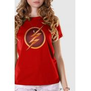 Camiseta Feminina The Flash Serie Logo Gold