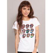 Camiseta Feminina The Rolling Stones Logos