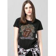 Camiseta Feminina The Rolling Stones Rock N' Roll