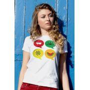 Camiseta Feminina Turma da Mônica Cool Ícones