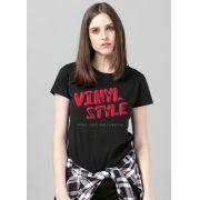 Camiseta Feminina Vinyl Style Logo