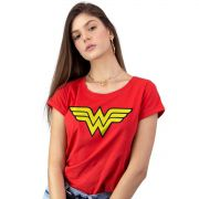 Camiseta Feminina Wonder Woman Logo