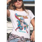 Camiseta Feminina Wonder Woman vs Superman