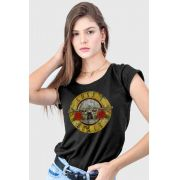 Camiseta Guns N' Roses Logo Bullet