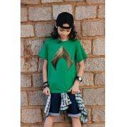 Camiseta Infantil Aquaman Logo Movie