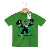 Camiseta Infantil Lanterna Verde Em Ação Oficial