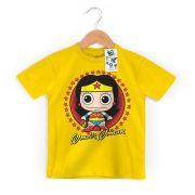 Camiseta Infantil Mulher Maravilha Kid Oficial