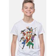 Camiseta Infantil Shazam Família White