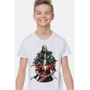 Camiseta Infantil Shazam VS Doctor Sivana White