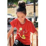Camiseta Infantil The Flash Em Ação