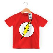 Camiseta Infantil The Flash Logo Oficial