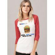 Camiseta Manga Longa Feminina BDPlayer Junk Food