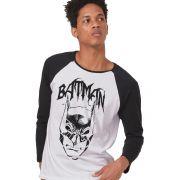 Camiseta Manga Longa Masculina Batman Dark Alley