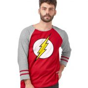 Camiseta Manga Longa Masculina The Flash Logo