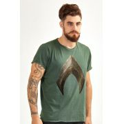 Camiseta Masculina Aquaman Logo Movie