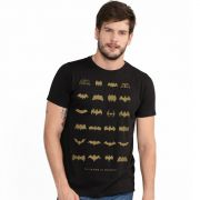 Camiseta Masculina Batman 75 Anos Logos Collection