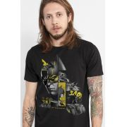 Camiseta Masculina Batman 80 Anos As Faces de Batman Black