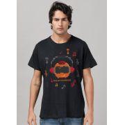 Camiseta Masculina BGS Robot Music