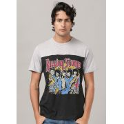 Camiseta Masculina Bicolor The Rolling Stones Tour of America