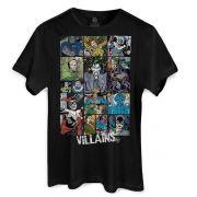 Camiseta Masculina DC Comics Villains Oficial