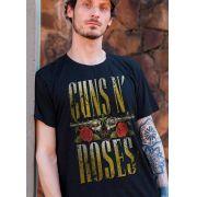 Camiseta Masculina Guns N' Roses Logo