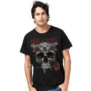 Camiseta Masculina Guns N' Roses Skull Oficial