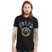 Camiseta Masculina Guns N' Roses Skull Band Oficial