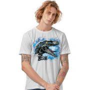 Camiseta Masculina Jurassic World Blue