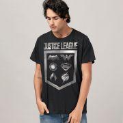 Camiseta Masculina Liga da Justiça Icons Oficial
