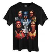 Camiseta Masculina Liga da Justiça Poster Oficial