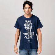 Camiseta Masculina Liga da Justiça You Can't Save