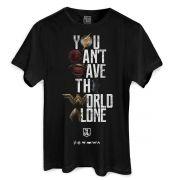 Camiseta Masculina Liga da Justiça You Can't Save Color Oficial