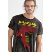Camiseta Masculina Marmorizada Shazam Name