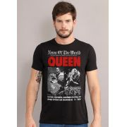 Camiseta Masculina Queen News of The World Black