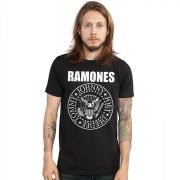 Camiseta Masculina Ramones Logo Oficial