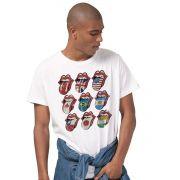 Camiseta Masculina The Rolling Stones Logos Oficial