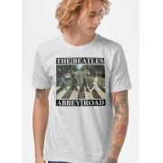 Camiseta Masculina The Beatles Abbey Road Capa