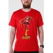 Camiseta Masculina The Flash Em Ação Oficial
