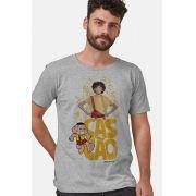 Camiseta Masculina Turma da Mônica Laços Cascão Sempre Cascão